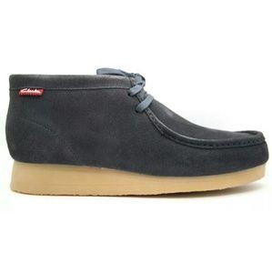 Clarks Stinson Hi Wallabees Dark Navy Boots